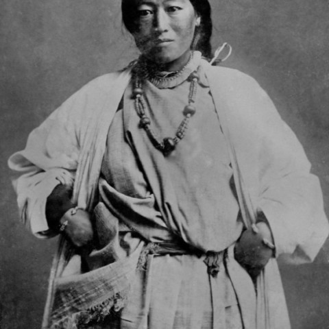 A woman belonging to the Lepcha Tribe of  Sikkim.