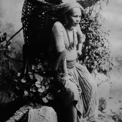 A woman belonging to the Limboo community of Sikkim.